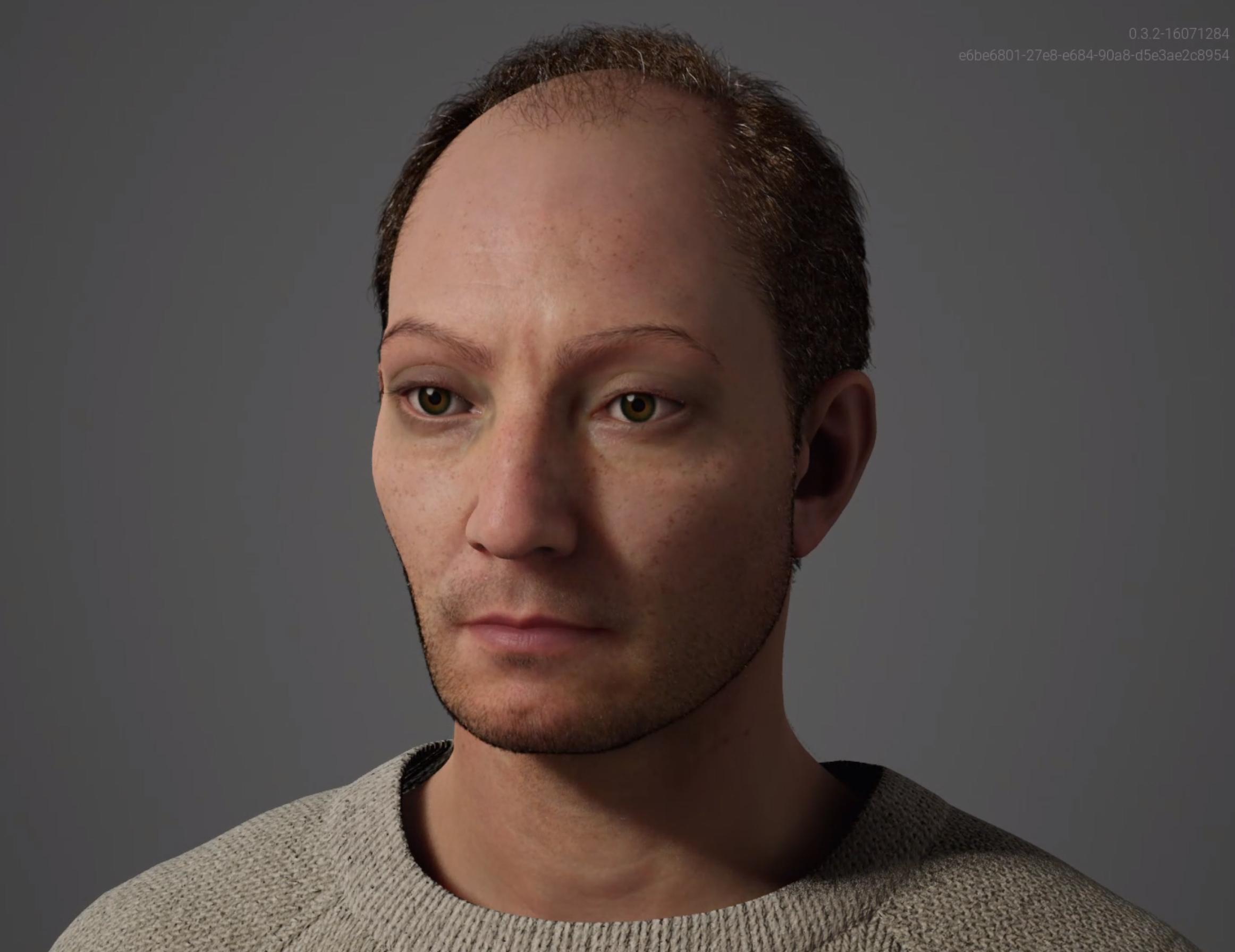 This is Claudio a MetaHuman created with the Unreal Engine Metahuman Creator