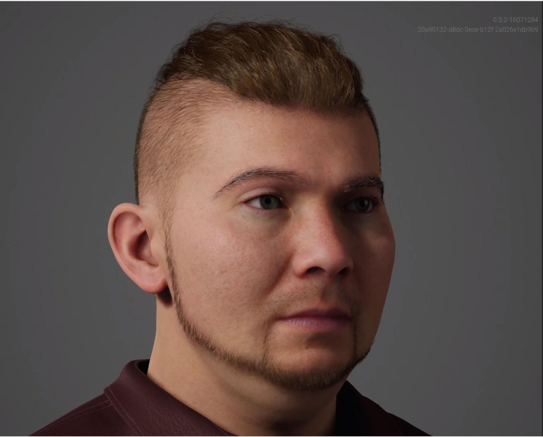 This is Rudolfo a MetaHuman created with the Unreal Engine Metahuman Creator