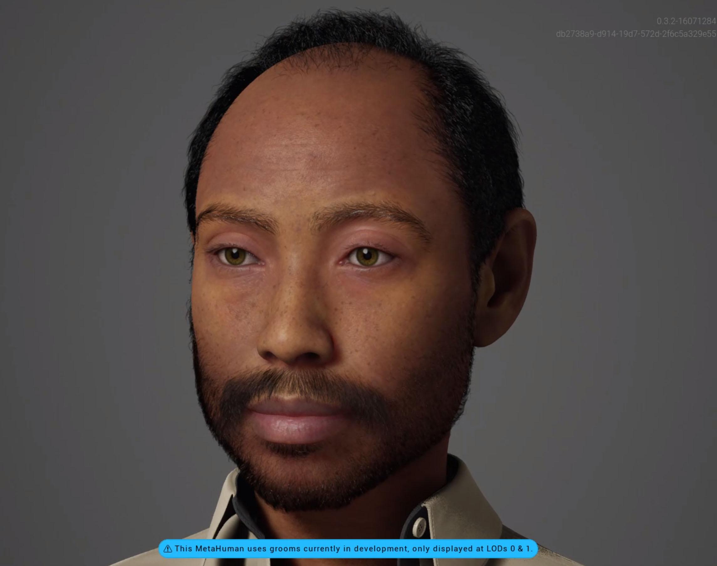 This is Murat a MetaHuman created with the Unreal Engine Metahuman Creator