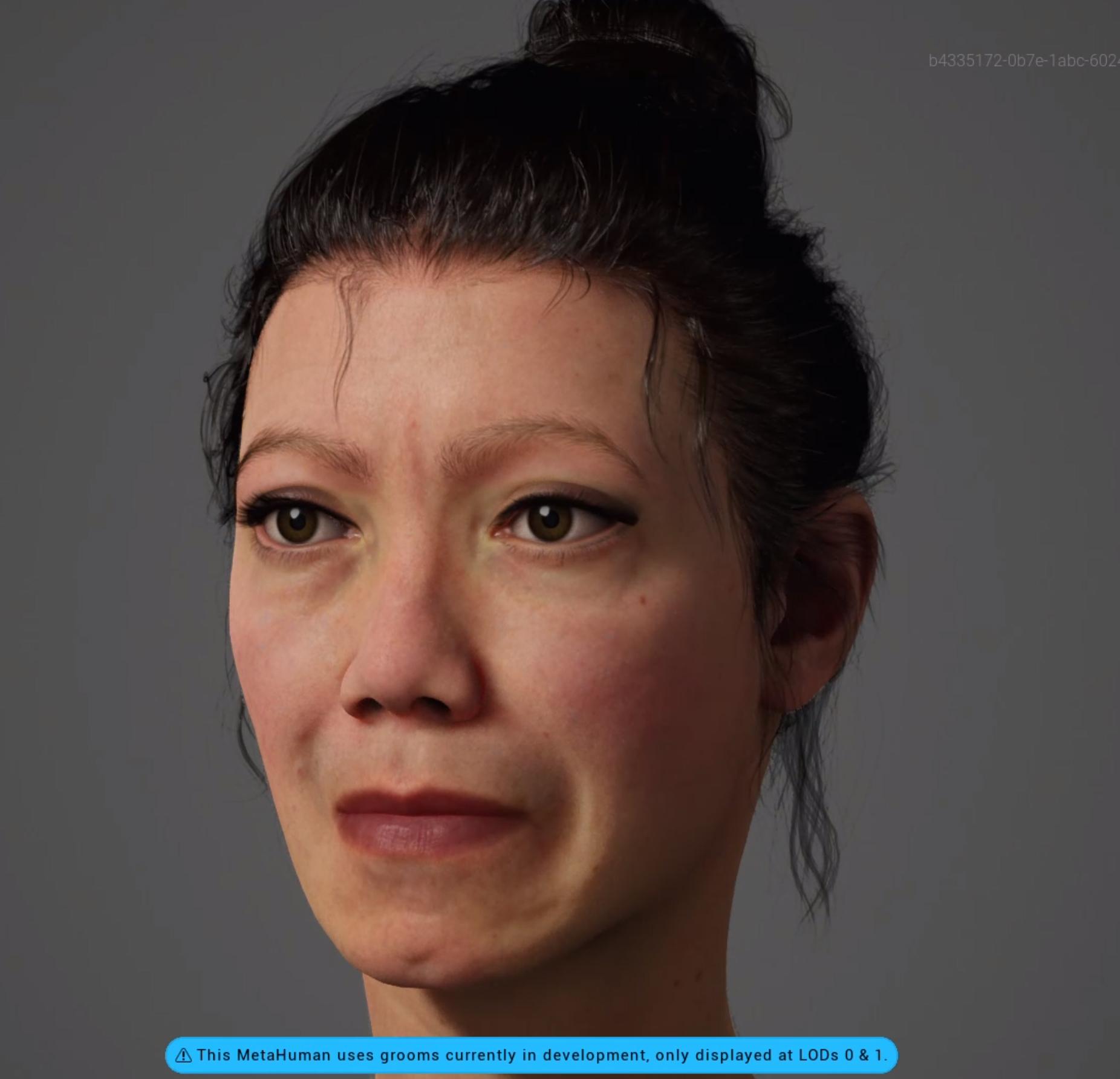 This is Amiria MetaHuman created with the Unreal Engine Metahuman Creator