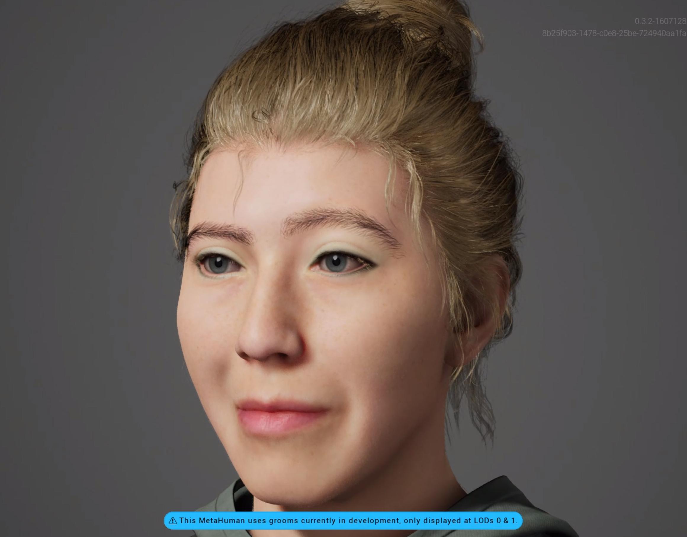This is Walburga a MetaHuman created with the Unreal Engine Metahuman Creator