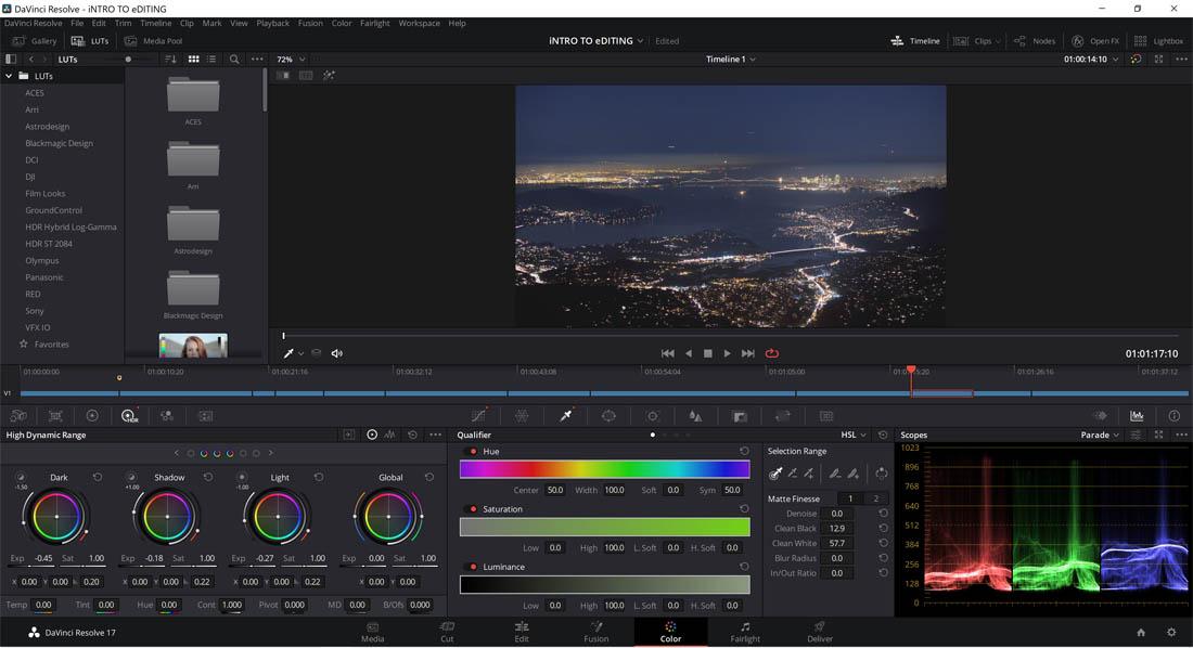 Blackmagic Design Davinci Resolve 17.3 Color Grading