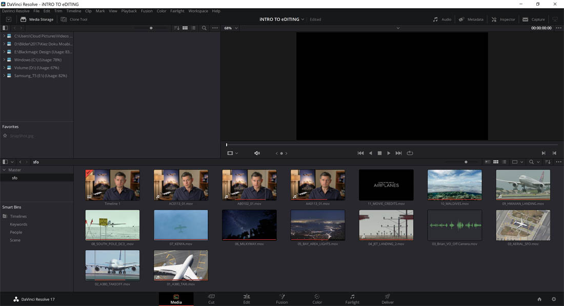 Blackmagic Design Davinci Resolve 17.3 Media Pool